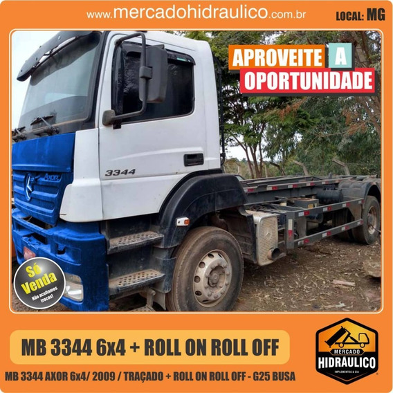 Mb 3344 Axor 6x4 / 2009 - Roll On Roll Off G25
