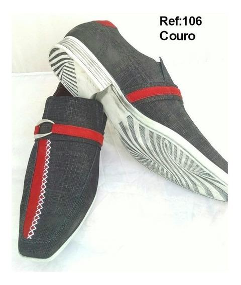 Sapato Social Masculino Sport Fino Couro + Brindes