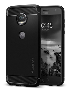 Funda Moto Z2 Play Rugged Armor Spigen Rugerizada Genuina