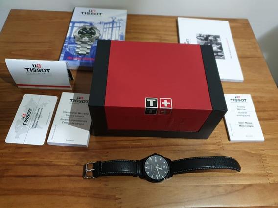 Relógio Tissot Feminino Preto Pulseira De Couro