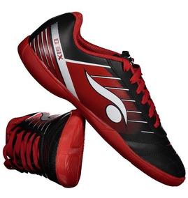 Chuteira Dray 6200 Futsal Preto E Vermelho