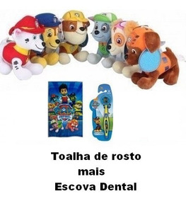 Kit Pelúcias Patrulha Com 6 + Everest Mais Brinde