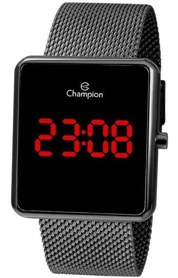 Relógio Champion Original Digital Unissex Grafite Ch40080c