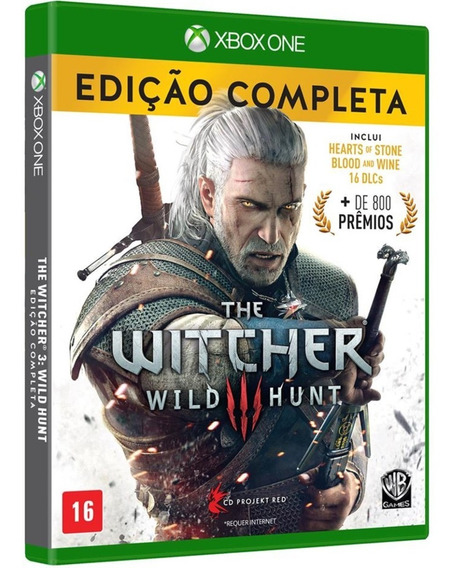 Jogo The Witcher 3 Xbox One Disco Fisico Cd Original Dublado