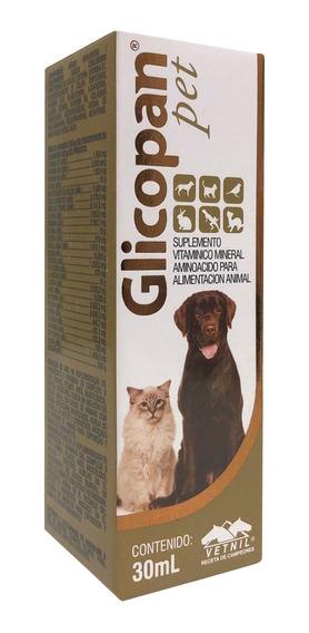 Vitamina Para Cachorros E Gatos Glicopan Pet 30ml Suplemento
