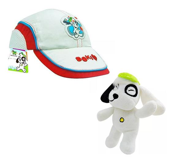 Boné Infantil Doki Discovery Kids Branco Butterfly + Pelúcia