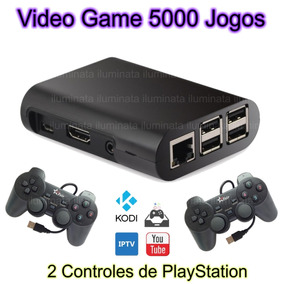 Vídeo Game Retro 16gb + 2 Controles De Fio