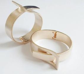 Pulseira Bracelete Banhada Á Ouro