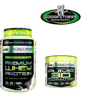 Proteina Premium X 1kg. + Pump 3d Evolution Oferta Lanus