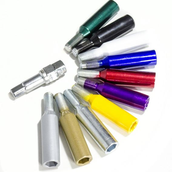 Parafusos Lob Alongado Colorido Vw/ Gm/ Rn 16pçs +1 Chave