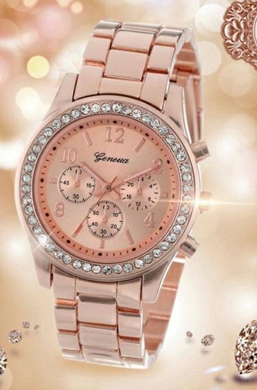 Relógio Feminino De Cristal Quartzo