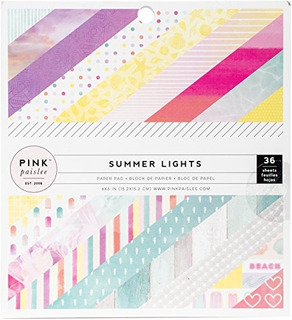 American Crafts Rosa Paislee Summer Luces 6 X 6 Pulgadas 36