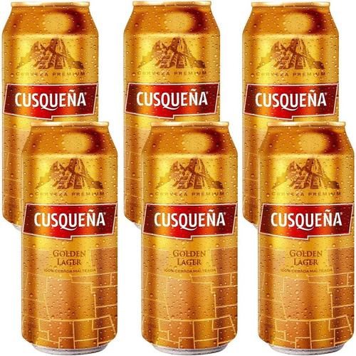 Imagen 1 de 5 de Cerveza Cusqueña Golden Lager Dorada Lata Origen Peru X6