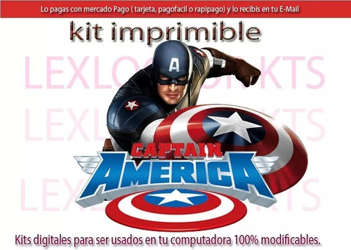 Kit Imprimible  Candy Bar Capitan America2020 Incluye Regalo