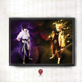 Quadro Para Quarto/sala - Naruto E Sasuke