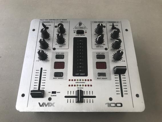 Mixer Behringer Vmx 100 Pro Dj Mixer 2 Canais
