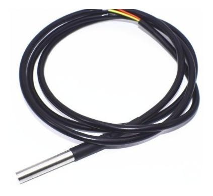 2x Ds18b20 Sensor Temperatura Aço Inoxidável Prova D