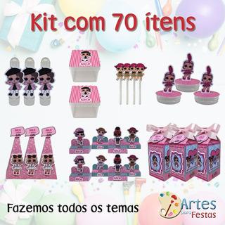 Lembrancinhas Aniversario Personalizadas Kit Festa 70 Itens