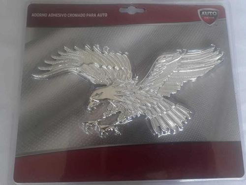 Imagen 1 de 4 de Adorno Adhesivo Cromado Aguila Para Auto