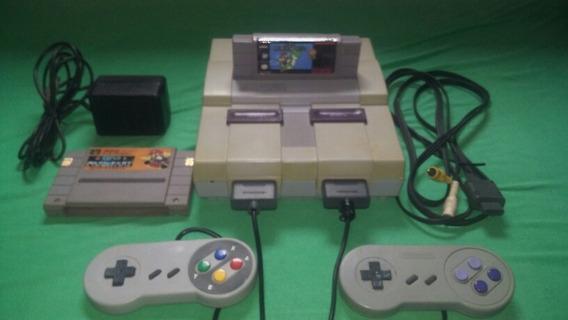 Super Nintendo Completo 2 Contr. S. Mário World Original