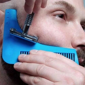 Pente Regua Modeladora Bigode Aparador De Barba - Homem