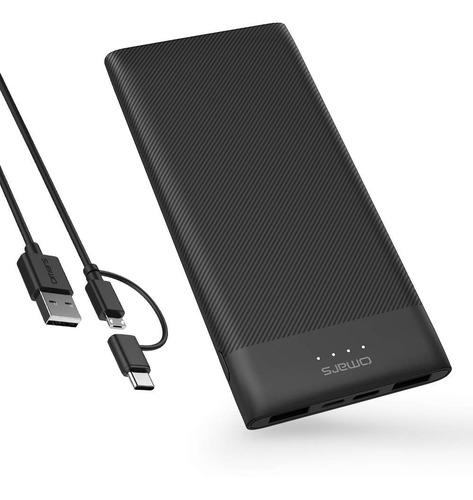 Power Bank 10000mah Slimline Para iPhone, Samsung, Huawei