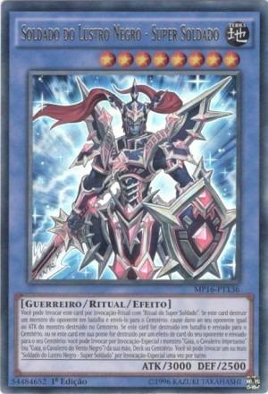 Soldado Do Lustro Negro - Super Soldado+card Brinde!