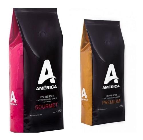 Kit 6kg Café Em Grãos América Premium E Gourmet - América