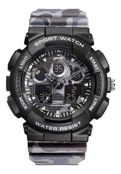 Relógio Masculino Weide Anadigi Original Top