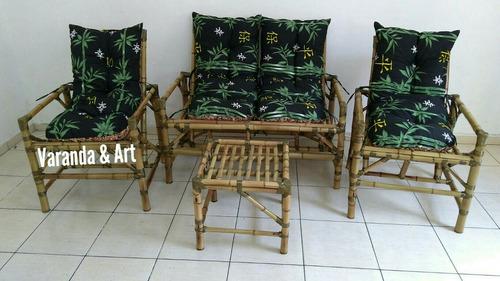Jogos De Sofá De Bambu Jogos De Área Varanda Sacada Área Kit
