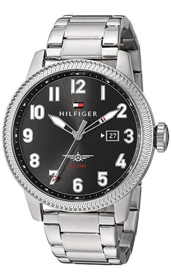 Reloj Tommy Hilfinger Caballero Elegante Color Plata