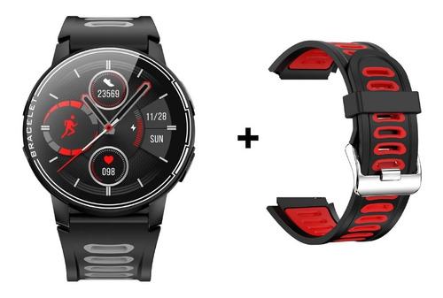Imagem 1 de 10 de  Smart Watch S20 1,3   Full Touch Screen + Pulseira Vermelha