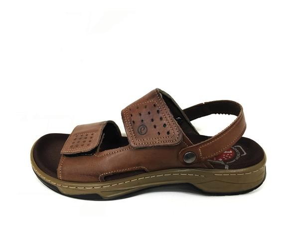 Sandalia Masculina Velcro Chinelo Pegada 132206 Confortavel