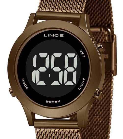 Relógio Lince Digital Feminino Chocolate Sdph114l Pxnx + Nfe