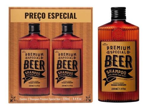 Imagem 1 de 3 de Kit Shampoo Beer | 2 Unidades Premium Special Beer | Qbs