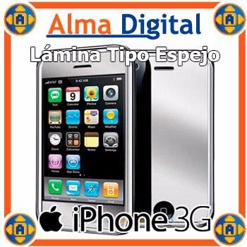 Lamina Protector Pantalla iPhone 3g Tipo Espejo Mirror
