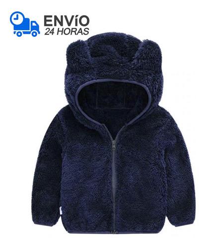 Imagem 1 de 1 de Jaqueta Infantil Menino Urso Inverno Fleece Plush Inverno