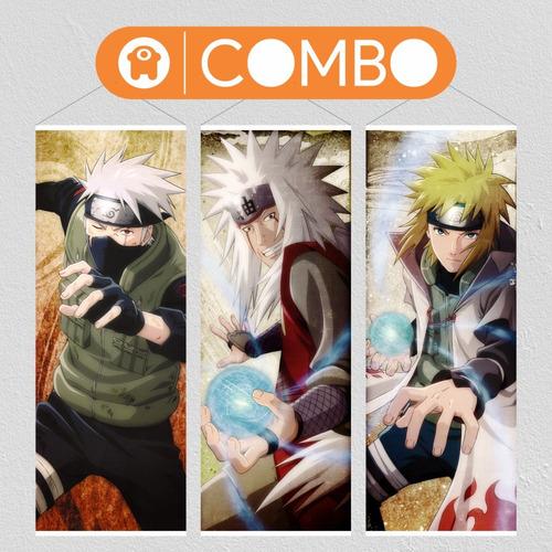 Imagen 1 de 6 de Lonas De Naruto Personajes Grosos X 3 Para Colgar - Animeras