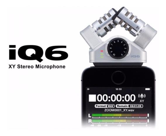 Microfone Zoom Iq6 Stereo Alta Qualidade Para iPhone E iPad