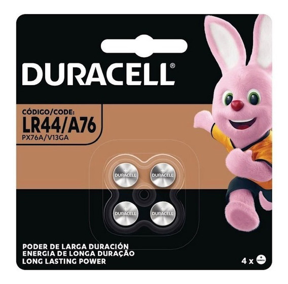 Bateria Duracell Lr44 C/4 Unidades