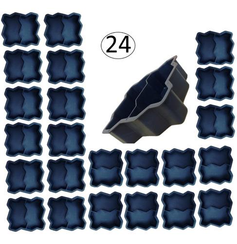 Forma Bloquete De Cimento Intertravada Dupla 08cm 24 Peças