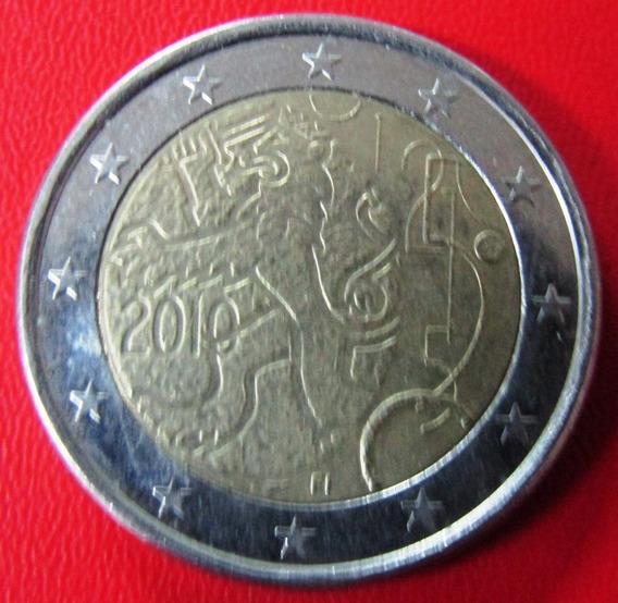 Finlandia Moneda 2 Euros 2010 Au 150 Aniv De La Moneda