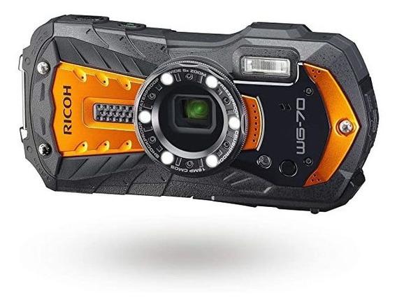 Camara Ricoh Wg-70 Orange Waterproof Digital 16mp High Res ®