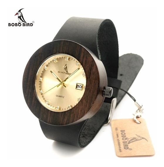 Reloj Bobo Bird Original De Madera Remate Calendario Bambu
