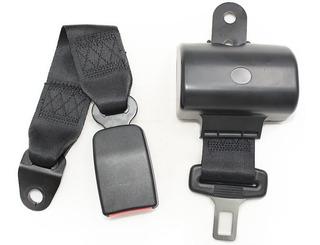 Cinturón De Seguridad Negro Retráctil 2 Puntas