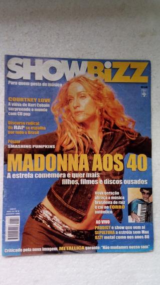 Revista Showbizz Ano 14 Nº08 - Madonna Aos 40