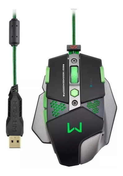 Mouse Gamer Multilaser Warrior Mo249 + Mousepad