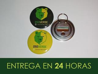 Chapitas 56mm 3 En 1 Destapador-llavero-imán - Oso Verde