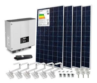 Kit 4 Placas Solares + Inversor 3kw Policristalino 330w Wifi