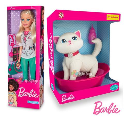 Barbie Veterinária Boneca Gata Cuidados C/ A Blissa Infantil